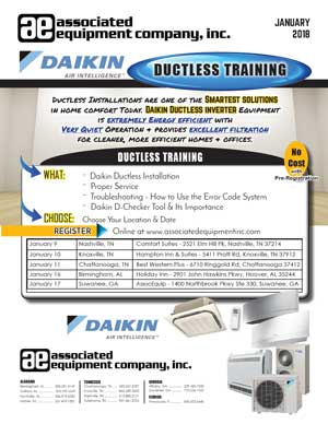 Ductless Training Flyer - Jan 2018