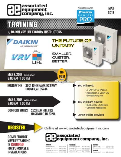 VRV Life Training Flyer