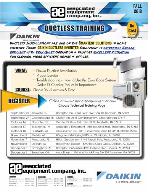 Ductless Training Brochure Fall 2018